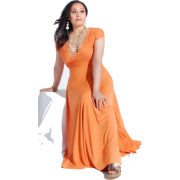 Orange evening dress (Vestidos) - Dresses -