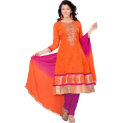 Orange pink salwaar kamiz (Home Shop) - People -