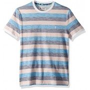 Original Penguin Men's Short Sleeve Rev Feeder Stripe Tee - Shirts - $49.00