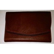 Osgoode Marley Ladies Leather Bifold with Flap Cover Wallet Brandy / Black Interior - Wallets - $59.99