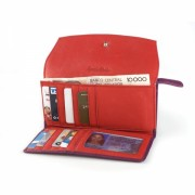 Osgoode Marley Womens Leather Card Case Wallet Grape - Wallets - $64.00