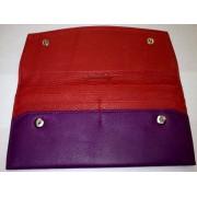 Osgoode Marley Womens Leather Slim Clutch Wallet Grape - Wallets - $46.00