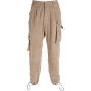 Overalls corduroy multi-pocket slacks - Capri & Cropped - $35.99