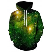 PAUL JONES Men's Stylish 3D Digital Print Pullover Hoodies Hooded Sweatshirt - Shirts - $19.68