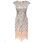 PEATAO Art Deco Evening Dress 1920s Style Prom Dresses Clubwear Dress Women XXL Dresses - Haljine - $32.07  ~ 27.54€
