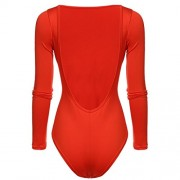 PEATAO Backless Body Shaper Round Neck Shapewear Round Neck Leotards Bodysuits - Underwear - $10.59