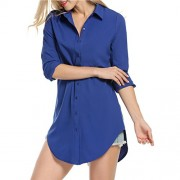 PEATAO Button Shirt Women's Long Sleeve Casual Button Down Blouse Tops - My look - $22.99