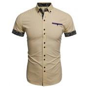 PEATAO Designer Work Shirts Designer Patchwork Shirts Designer Slim Shirts Dress Shirts - Košulje - kratke - $20.79  ~ 17.86€