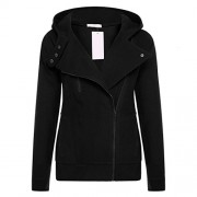 PEATAO Fashion side zipper hoodie for women long sleeve sweatshirt jacket - Outerwear - $35.99