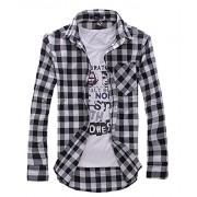 PEATAO Men Down Shirt Men Denim Shirt Checkered Shirts Casual Button-Down Shirts - Košulje - kratke - $17.58  ~ 15.10€
