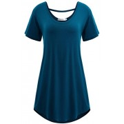 PEATAO Tshirt Women Plus Size Summer Women Tunic Tops Short Sleeve Summer Tunics for Women to wear with Leggings Tunics - Shirts - $19.75