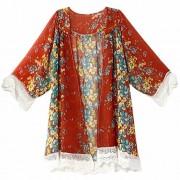 PEATAO Women Tops and Blouses Flattering Swing t Shirt Plus Size Cardigans Cardigans - Košulje - kratke - $10.14  ~ 64,42kn