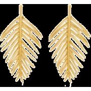 Palm Leaf Earring by Oscar de la Renta - Naušnice - $999.00  ~ 858.03€