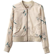 Pasa Boho Embroidered Bomber Jacket - Jacket - coats - $66.00