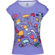 Pastel Mauve Abstract Print Fitted Tshir - T-shirt - $42.00  ~ 36.07€