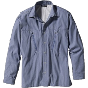Patagonia Cool Shade Shirt - Long Sleeve - Men's Frying Pan Channel Blue - Camisa - longa - $79.00  ~ 67.85€