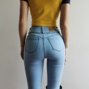 Peach hip jeans were thin and stretchyOv - Jeans - $29.99  ~ 25.76€