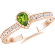 Pear Peridot Ring - Anelli - $439.00  ~ 377.05€