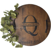Personalized Wine Barrel Lazy Susan - Resto - $89.00  ~ 76.44€