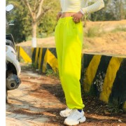 Personalized fluorescent trousers women's feet high waist wild double pants casu - Spodnie Capri - $29.99  ~ 25.76€