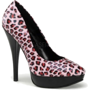Pin Up Couture's Baby Pink Cheetah Print Pumps - 5 - Sapatos - $42.50  ~ 36.50€