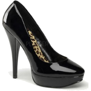 Pin Up Couture's Classic Black Platform Pump - 8 - Plataformas - $40.80  ~ 35.04€
