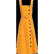 Pinafore Midi Dress - Uncategorized -