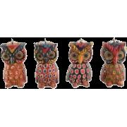 Pinewood Owl Ornaments from Guatemala - Predmeti -