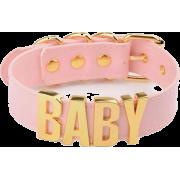 Pink Pleather Baby Choker - Ogrlice -