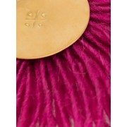 Pink Wool Fan Earrings - Tła -
