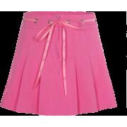Pink pleated skirt high waist with versa - Skirts - $25.99