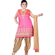 Pink salwaar kameez plus size - People -