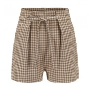 Plaid high waist strap shorts casual pan - Shorts - $19.99