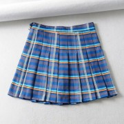 Plaid pleated skirt skirt - Skirts - $25.99