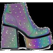 Platform Pastel Moon and Star Boots - Čizme -