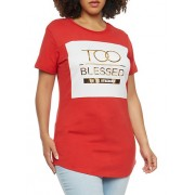 Plus Size Blessed Graphic Top - Top - $17.99