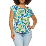 Plus Size Tropical Print Top - Top - $16.99