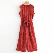 Polka-dot sleeveless slimming wide-leg p - Pajamas - $27.99