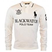 Polo Ralph Lauren Men's Blackwatch Big Pony Custom Fit Polo Shirt (L, White) - Shirts - $125.00