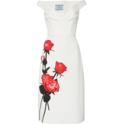 Prada Floral-Print Cotton Midi Dress Col - Dresses -
