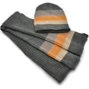 Premium Wool blend mens/womens scarf and hat gift set - 4 colors Grey - Scarf - $21.99