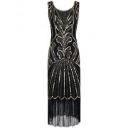 PrettyGuide Women 1920s Dress Beads Art Deco Inspired Cocktail Flapper Dress - Vestidos - $39.99  ~ 34.35€