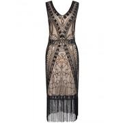 PrettyGuide Women 1920s Flapper Dress Art Deco Sequin Inspired Cocktail Gown - Dresses - $19.99