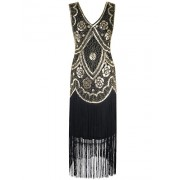 PrettyGuide Women 1920s Flapper Dress Sequin Long Fringed Sway Cocktail Dress - Vestidos - $25.99  ~ 22.32€