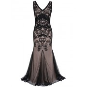 PrettyGuide Women 1920s Prom Gown Long Mermaid Formal Evening Dress - Vestidos - $39.99  ~ 34.35€