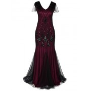 PrettyGuide Women Evening Dress 1920s Flapper Cocktail Mermaid Plus Size Formal Gown - Vestidos - $35.99  ~ 30.91€