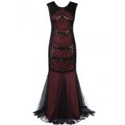 PrettyGuide Women Evening Gown 1920s Flapper Beaded Mermaid Long Formal Dress - Dresses - $29.99