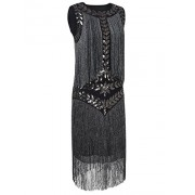 PrettyGuide Women's 1920s Dress Vintage Beaded Fringed Inspired Flapper Dress - Vestidos - $38.99  ~ 33.49€