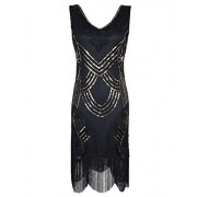 PrettyGuide Women's 1920s Dresses Art Deco Beads Fringed Cocktail Flapper Dress Gatsby Party - Vestidos - $29.99  ~ 25.76€