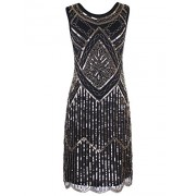 PrettyGuide Women's 1920s Gatsby Vintage Sequin Scalloped Hem Cocktail Flapper Dress - Vestidos - $25.99  ~ 22.32€